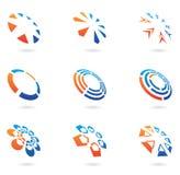 Éléments déformés de conception Photos libres de droits