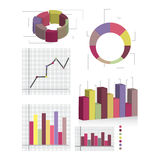 Éléments détaillés des information-graphiques avec des étiquettes image stock