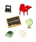 Éléments d'école Photos stock