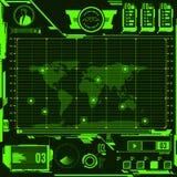 Éléments d'écran de carte de navigation de HUD Photos libres de droits