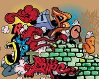 Éléments d'alphabet de graffiti illustration de vecteur