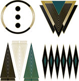 Éléments d'Art Deco Logos et de conception Photo stock