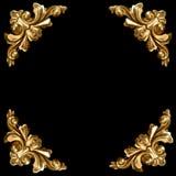 Éléments d'or de trame découpée Image libre de droits