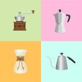 Éléments d'ensemble de café Photos libres de droits