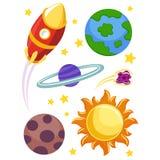 Éléments d'espace extra-atmosphérique illustration stock