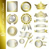 Éléments d'or et d'argent Photographie stock