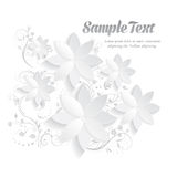 éléments 3D floraux de papier Image libre de droits
