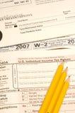 Éléments d'impôts Photo stock