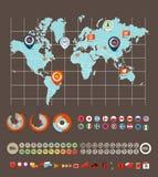 Éléments d'Infographic Photo stock