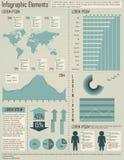 Éléments d'Infographic Images stock