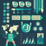 Éléments d'Infographic Photographie stock