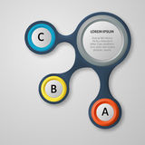 Éléments 3d infographic abstraits Photo libre de droits