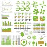 Éléments d'Infographic d'écologie Photos libres de droits