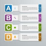 Éléments 3d infographic de papier abstraits Photographie stock