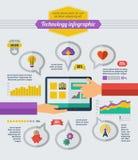 Éléments d'Infographic de technologie Photo libre de droits