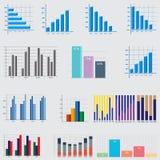 Éléments d'Infographic diagrammes et graphiques d'affaires Images stock