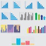 Éléments d'Infographic diagrammes et graphiques d'affaires Photo libre de droits