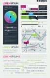 Éléments d'Infographics Photo stock