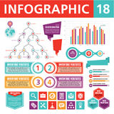 Éléments 18 d'Infographics Photo stock