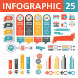 Éléments 25 d'Infographics Photos stock