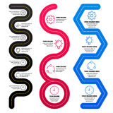Éléments d'Infographics Carte de route Photos libres de droits