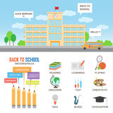 Éléments d'infographics d'éducation illustration stock