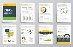 Éléments d'infographics d'affaires pour les brochures d'entreprise Photo stock