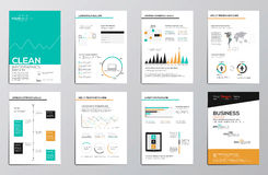 Éléments d'infographics d'affaires pour les brochures d'entreprise illustration libre de droits