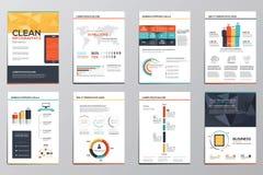 Éléments d'infographics d'affaires pour les brochures d'entreprise Photographie stock libre de droits
