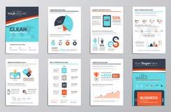Éléments d'infographics d'affaires pour les brochures d'entreprise illustration de vecteur
