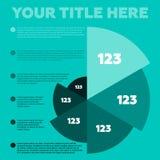 Éléments d'Infographics Diagramme circulaire Photos stock