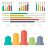 Éléments d'Infographics Diagrammes de discrimination raciale Image stock