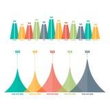 Éléments d'Infographics Histogramme de triangle Photo stock