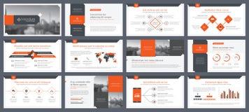 Éléments d'infographics pour des calibres de présentations Photos stock