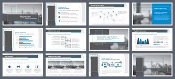 Éléments d'infographics pour des calibres de présentations Image libre de droits