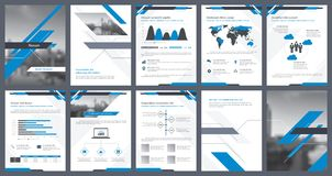 Éléments d'infographics pour le calibre de rapport et les calibres de présentations Photographie stock