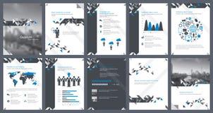 Éléments d'infographics pour le calibre de rapport et les calibres de présentations Images stock