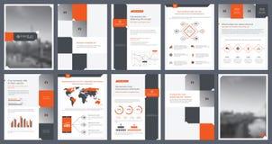 Éléments d'infographics pour le calibre de rapport et les calibres de présentations Image libre de droits