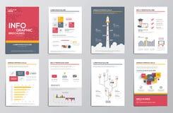 Éléments d'Infographics pour les brochures d'entreprise Photo stock