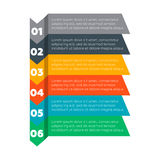 Éléments d'Infographics Six processus d'étapes Image libre de droits