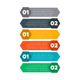 Éléments d'Infographics Six processus d'étapes Photos libres de droits