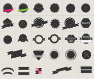 Éléments d'insigne de style de hippie et ensemble de label Photos libres de droits