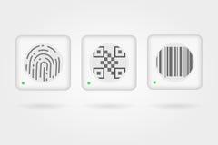 Éléments d'interface pour le paiement de Web Photo stock