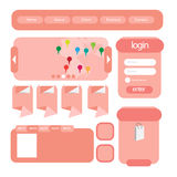 Éléments d'interface utilisateurs d'utilisateur web Images libres de droits