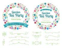 Éléments d'invitation et de conception de guirlande de fleur Image stock