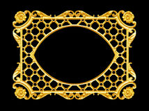 Éléments d'ornement, cadre d'or de vintage Photo libre de droits