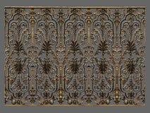 Éléments d'ornement, conceptions florales d'or de vintage Photo stock