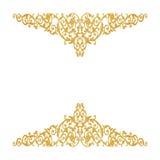 Éléments d'ornement, conceptions florales d'or de vintage Image stock