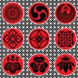 Éléments d'ornement du Japon illustration de vecteur