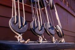 Éléments d'un attirail de bateau images libres de droits